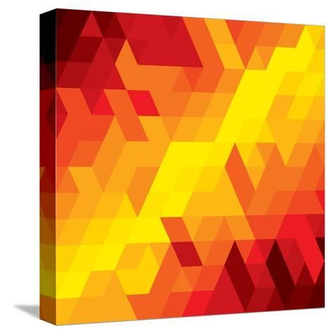 Abstract Colorful Of Diamond, Cube And Square Shapes-smarnad-Stretched Canvas Print