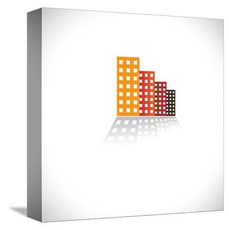 Colorful Commercial Buildings,Offices, Apartments-smarnad-Stretched Canvas Print