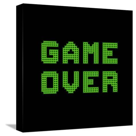 Game Over On A Green Grid Digital Display-wongstock-Stretched Canvas Print