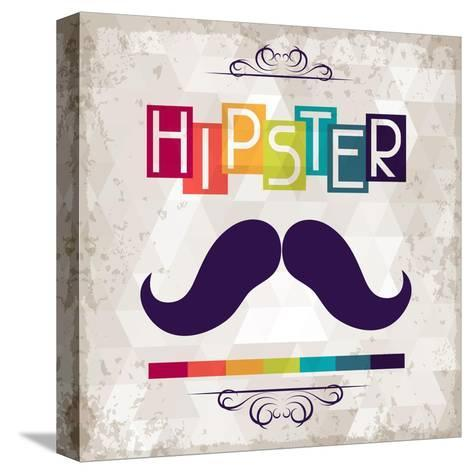 Hipster Background In Retro Style-incomible-Stretched Canvas Print