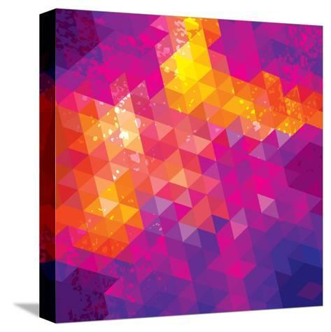 Square Composition With Geometric Shapes. Cover Background-nuraschka-Stretched Canvas Print