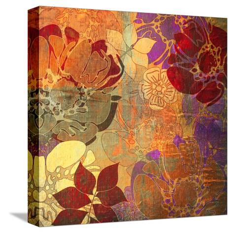 Art Floral Grunge Background Pattern. To See Similar, Please Visit My Portfolio-Irina QQQ-Stretched Canvas Print