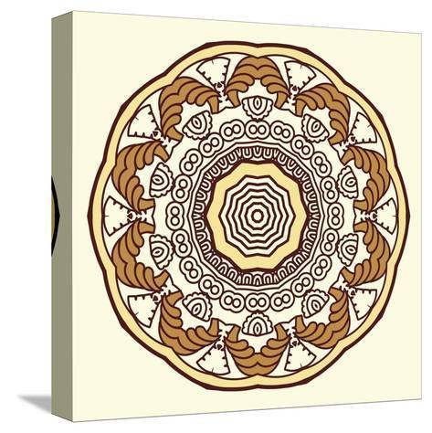 Round Decorative Design Element-epic44-Stretched Canvas Print