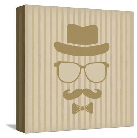 Hipster'S Hat, Glasses, Moustache-marina_abcd-Stretched Canvas Print