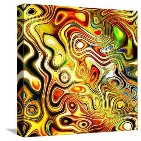 Art Glass Colorful Textured Red, Golden And Green Background-Irina QQQ-Stretched Canvas Print