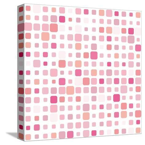 Pink Square Mosaic- SvetlanaR-Stretched Canvas Print