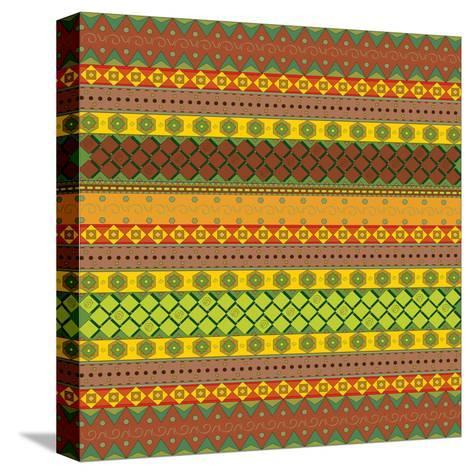 Bright Aztec Pattern-Yaroslavna-Stretched Canvas Print
