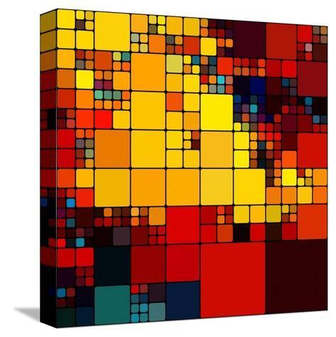 Art Abstract Vibrant Rainbow Geometric Pattern Background-Irina QQQ-Stretched Canvas Print