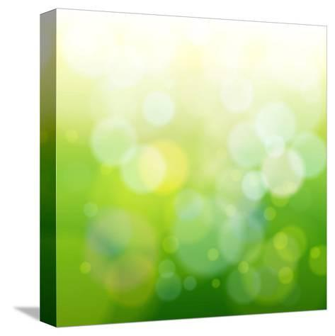 Green Bokeh Abstract Light--Vladimir--Stretched Canvas Print