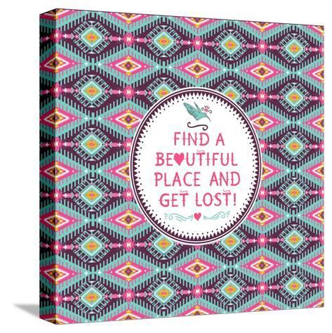 Hipster Seamless Aztec Pattern With Geometric Elements-tomuato-Stretched Canvas Print