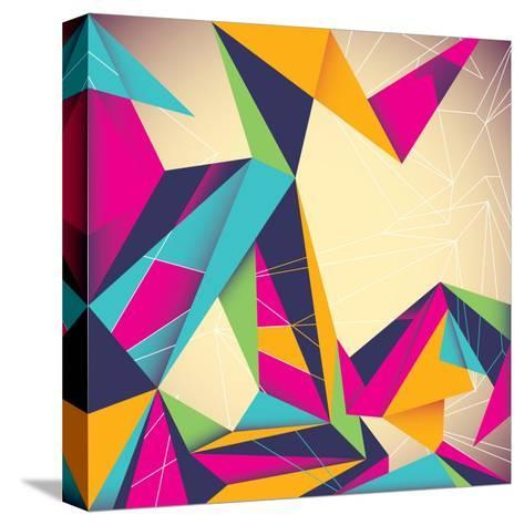 Colorful Illustrated Abstraction-Rashomon-Stretched Canvas Print