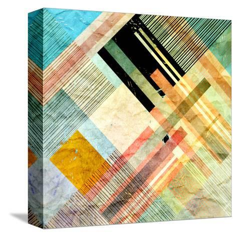 Abstract Geometric Pattern-Tanor-Stretched Canvas Print