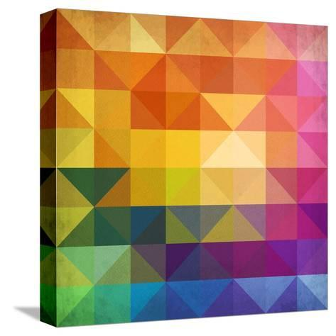 Abstract Vibrant Triangles-art_of_sun-Stretched Canvas Print