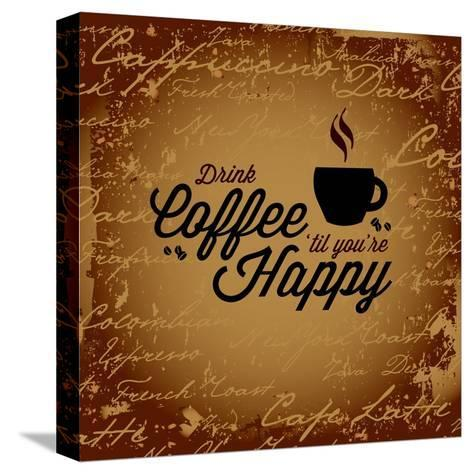 Coffee Makes You Happy-arenacreative-Stretched Canvas Print