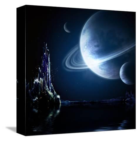 Landscape In Fantasy Planet-frenta-Stretched Canvas Print