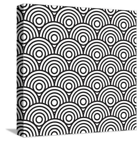 Concentric Circles- j0hnb0y-Stretched Canvas Print