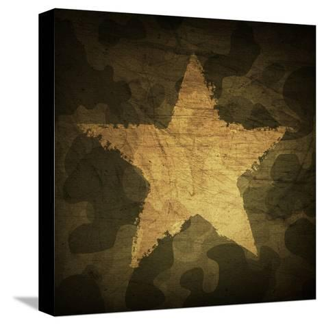 Military Camouflage Background With Grunge Star-pashabo-Stretched Canvas Print