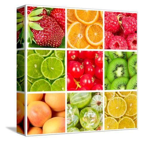 Collage Of Fresh Fruits-Natalyka-Stretched Canvas Print