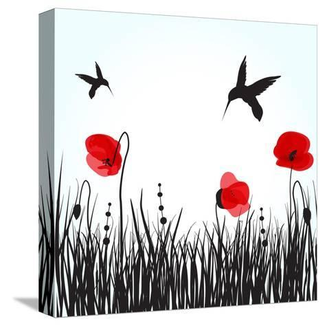 Hummingbirds-mcherevan-Stretched Canvas Print