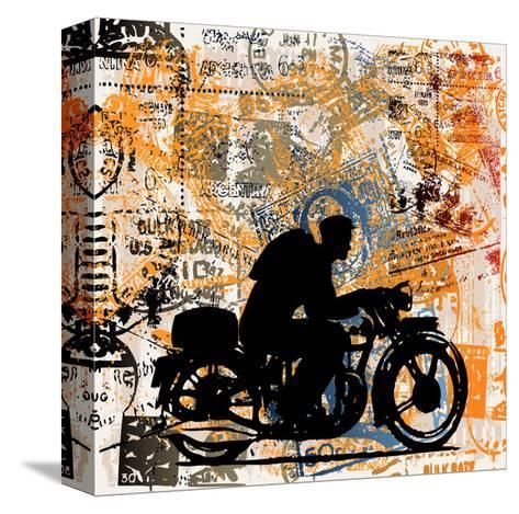 Motorcycle Travels-Petrafler-Stretched Canvas Print
