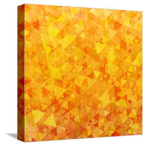 Bright Orange Scattered Triangles Background-Enka Parmur-Stretched Canvas Print
