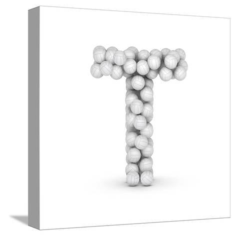 Letter T, From Voleyballs-iunewind-Stretched Canvas Print