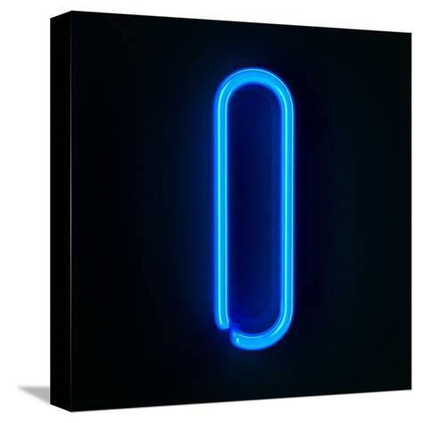 Neon Sign Letter I-badboo-Stretched Canvas Print