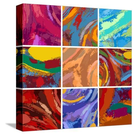 Abstract Painting Background Design Set-Igor Zakowski-Stretched Canvas Print