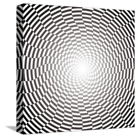 Optical Illusion Wallpaper:Raster Version-traffico-Stretched Canvas Print