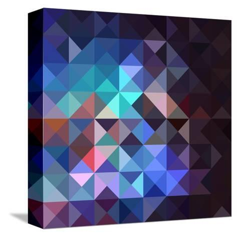 Gray Abstract Geometric Pattern-cienpies-Stretched Canvas Print