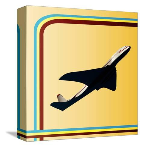 Retro Airliner Backgroun-Petrafler-Stretched Canvas Print