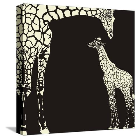 Inverse Giraffe Animal Camouflage-Gepard-Stretched Canvas Print