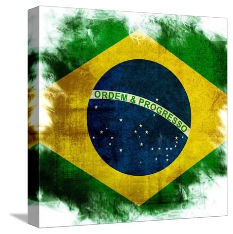 Flag Of Brazil-ilolab-Stretched Canvas Print