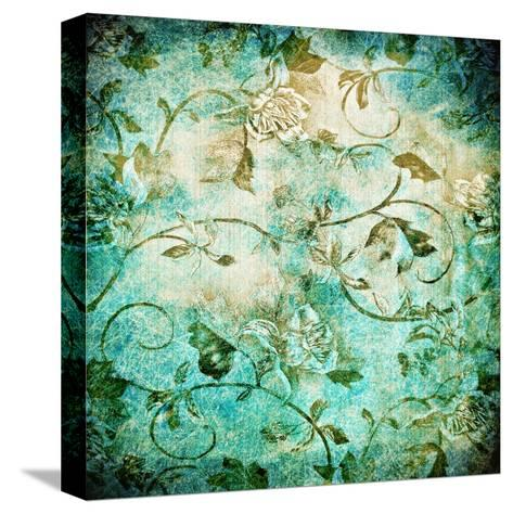 Abstract Old Background With Grunge Texture-iulias-Stretched Canvas Print