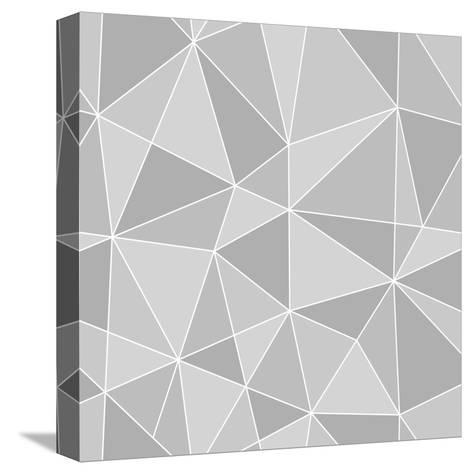 Seamless Triangles Texture, Abstract Illustration-100ker-Stretched Canvas Print