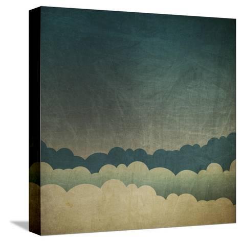 Vintage Grunge Sky Background-pashabo-Stretched Canvas Print
