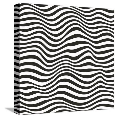 Striped Pattern-Magnia-Stretched Canvas Print