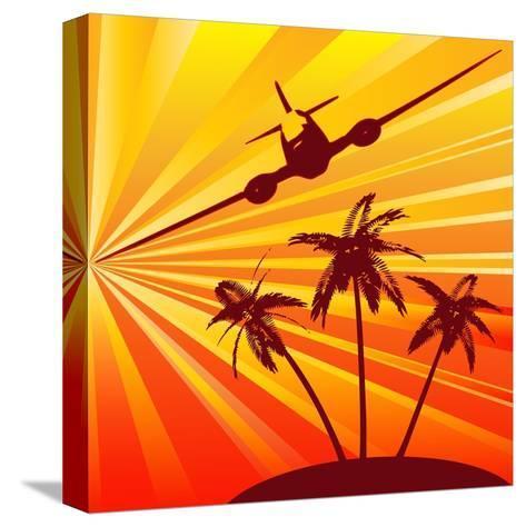 Tropical Travel-Petrafler-Stretched Canvas Print