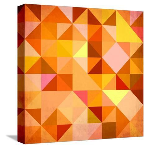 Abstract Triangles Grunge-art_of_sun-Stretched Canvas Print