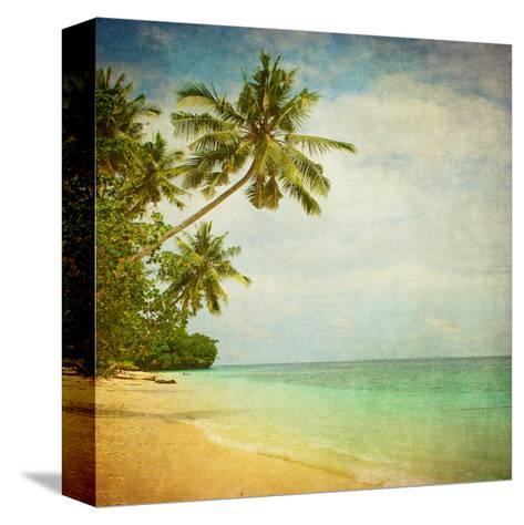 Grunge Image Of Tropical Beach-javarman-Stretched Canvas Print