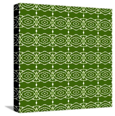 Green Native Pattern- weknow-Stretched Canvas Print