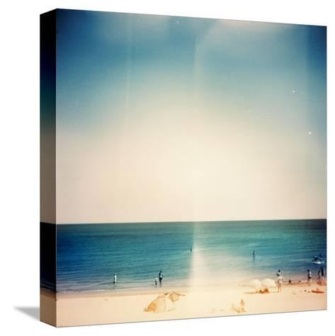 Retro Medium Format Photo. Sunny Day On The Beach. Grain, Blur Added As Vintage Effect-donatas1205-Stretched Canvas Print