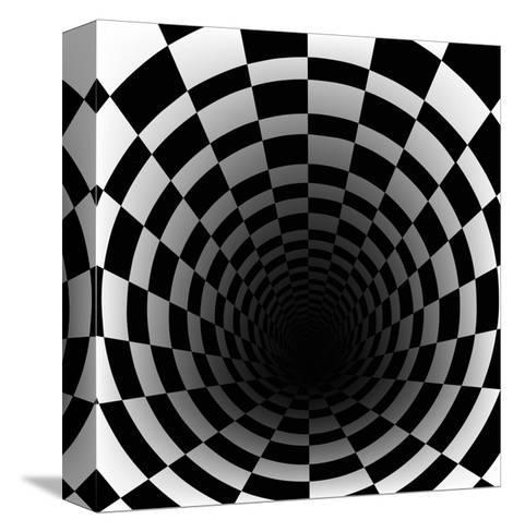 Checkerboard Background With Perspective Effect-Vlada13-Stretched Canvas Print
