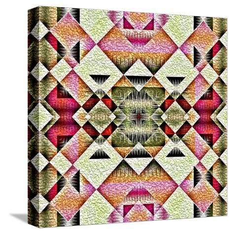 Native American Traditional Decorative Tribal Pattern Design Background-kgtoh-Stretched Canvas Print