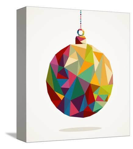 Geometric Christmas Ornament-cienpies-Stretched Canvas Print