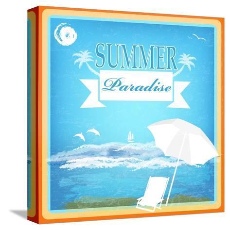 Vintage Beautiful Sea Travel Background-Alex150770-Stretched Canvas Print