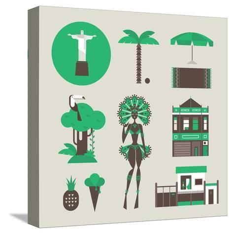 Brazillian Icons-vector pro-Stretched Canvas Print