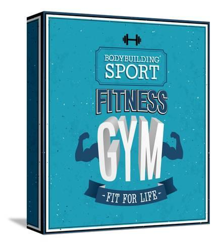 Fitness Gym Design-MiloArt-Stretched Canvas Print