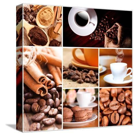 Coffee Concept-oksix-Stretched Canvas Print