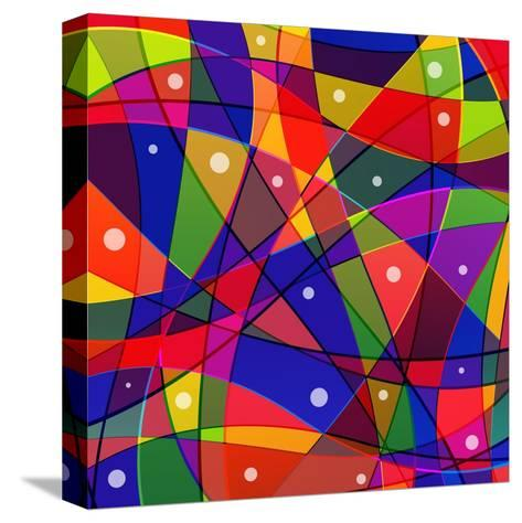 Stained-Glass Window-stekloduv-Stretched Canvas Print
